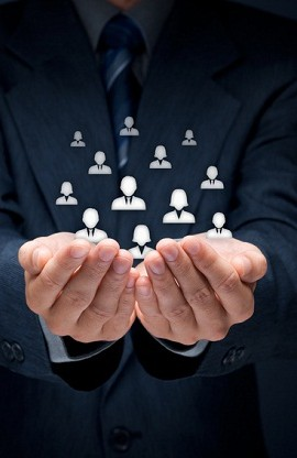 Customer or employees care concept
