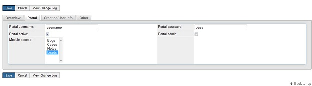 Access level settings in SugarCRM